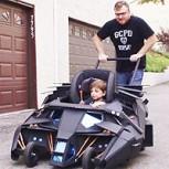 Un coche-Batimóvil para niños: Padre e hijo llevan fanatismo por Batman al siguiente nivel