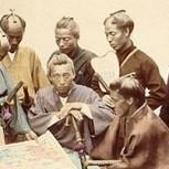 Fotos inéditas de los últimos samuráis y sus cortesanas salen a la luz tras 150 años