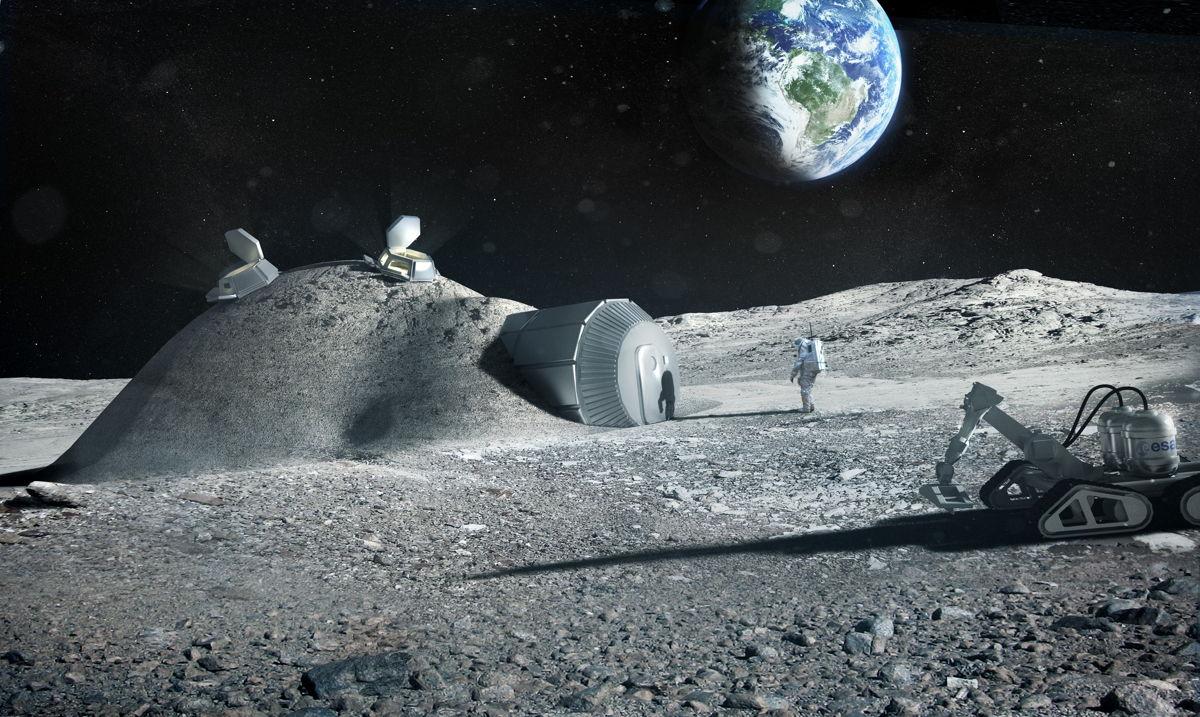 Base lunar impresa