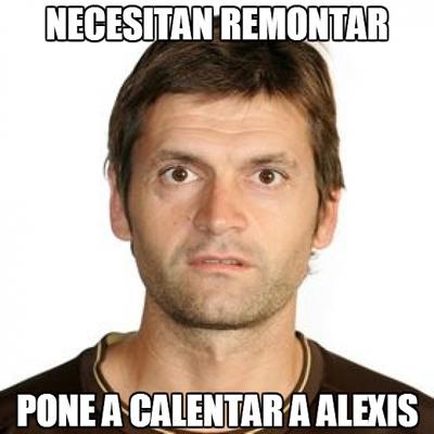 Afiches contra Alexis Sánchez
