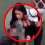 Mujer detiene a ladrón, lo golpea y lo obliga a desnudarse en plena calle