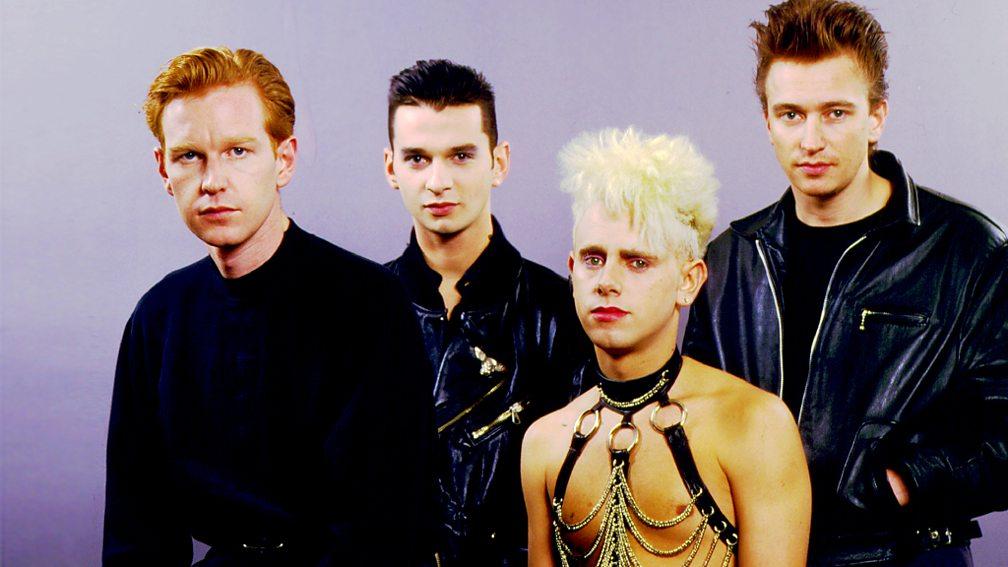La nueva formación de Depeche Mode, con el tecladista Alan Wilder (último a la derecha).