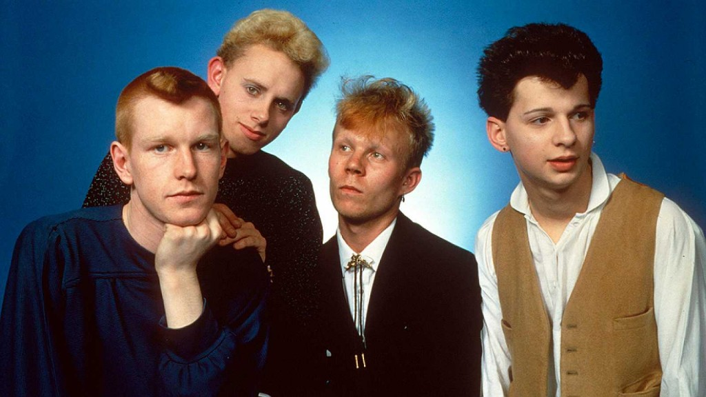 De izquierda a derecha: Andy Fletcher, Martin L. Gore, Vince Clarke y David Gahan, la primera formación del grupo Depeche Mode.