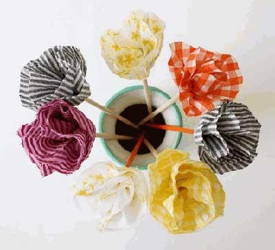 C mo hacer flores de tela sin coser manualidades y artesan a - Manualidades de telas ...