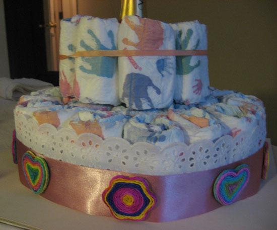 Torta de pañales: sorprendiendo con este regalo