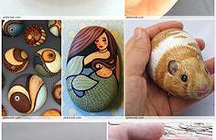 ¿Te gusta pintar piedras? Encuentra ideas en estas fotos