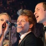 Bon Jovi cantó Livin' on a Prayer con el Príncipe William y Taylor Swift: Trío de lujo