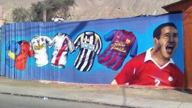 Descargar Dibujos De Alexis Sanches: Graffiti Gigante De Alexis Sánchez Se Suma A Otros