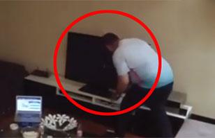 Video: Hincha turco enloquece y destruye la TV por broma de su esposa