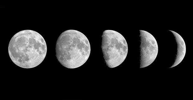 Las fases de la luna conoce y con ctate con sus for Un cuarto con luna facebook