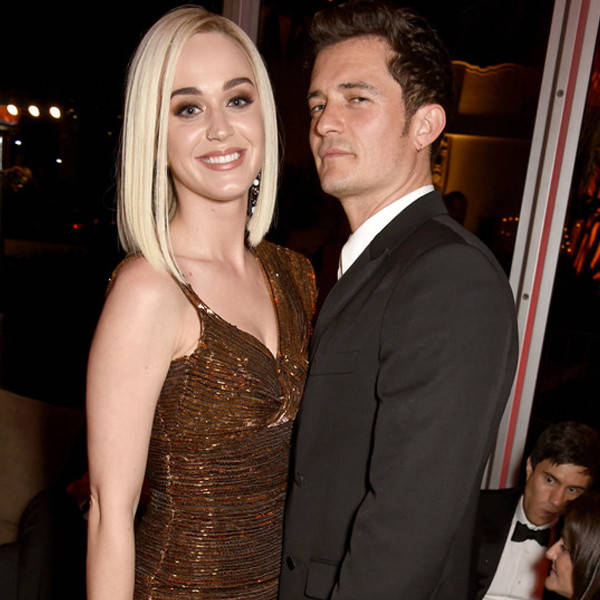 Katy Perry junto a Orlando Bloom.