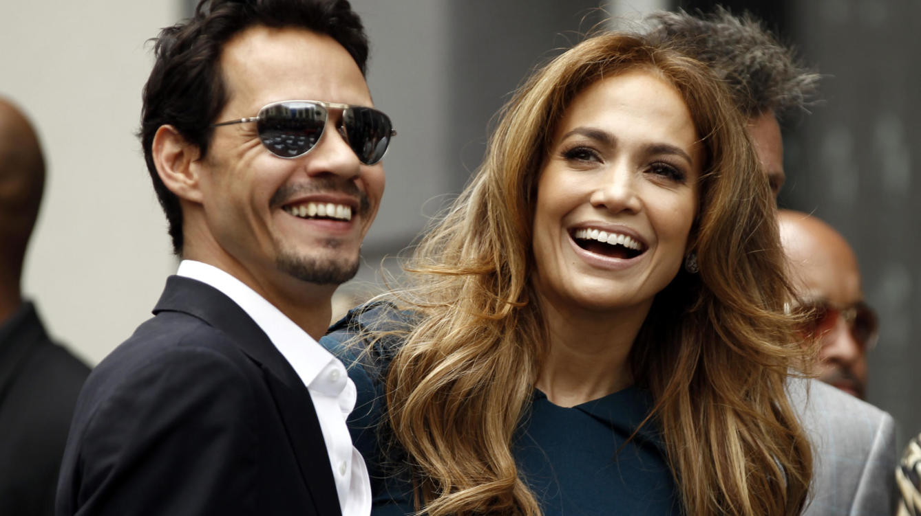 Marc Anthony con Jeniffer López-