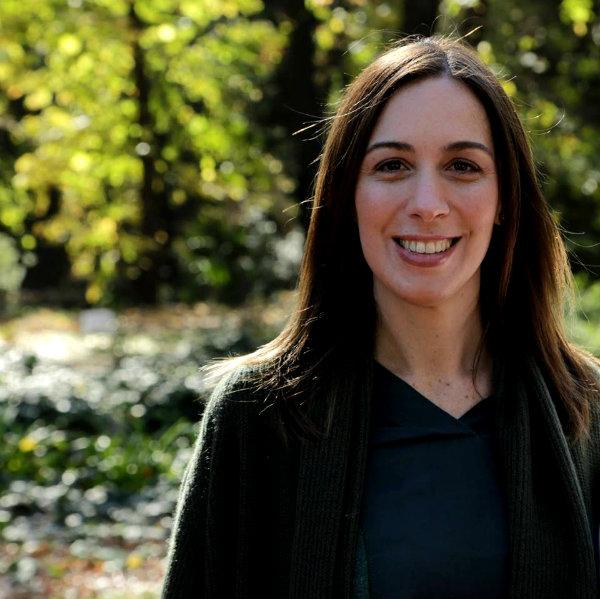 Maria Eugenia Vidal ya empezó con Obras la Gestión.
