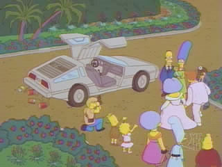 Simpsons De Lorean