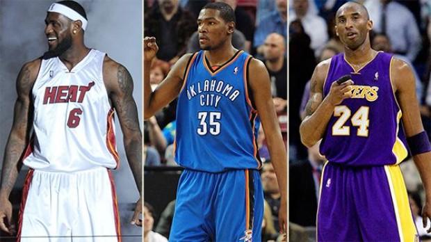 Bryant, Lebron y Durant: lo mejor de la NBA