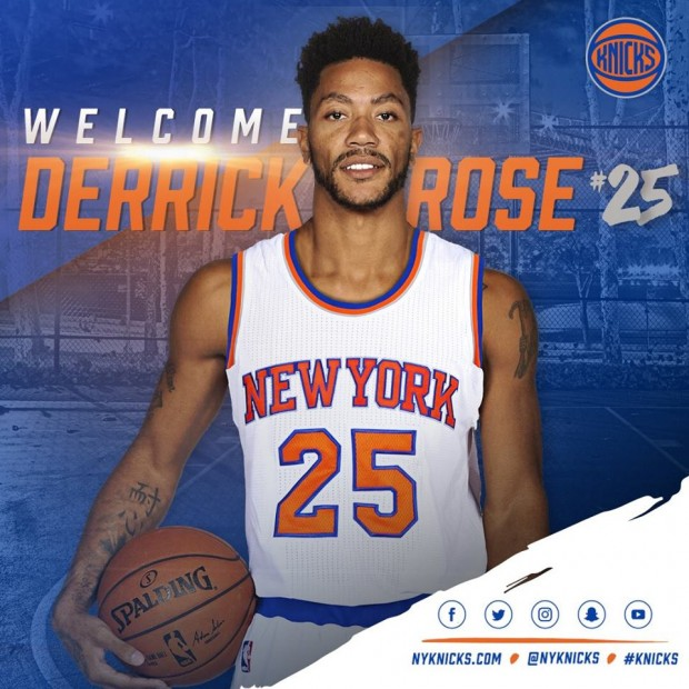 Sorpresivo movimiento en la NBA: Derrick Rose es traspasado a New York Knicks
