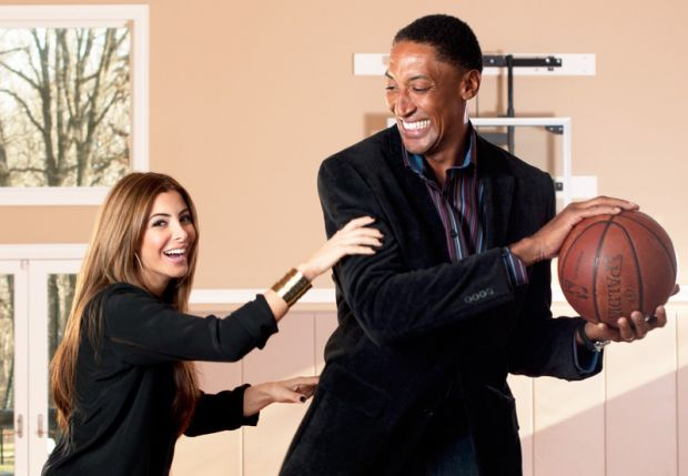 Scottie Pippen junto a su actual esposa Larsa Younan