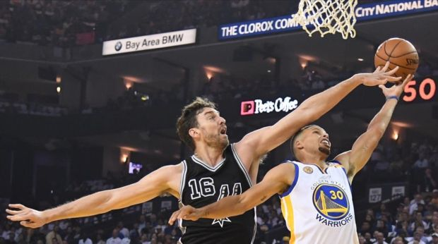 San Antonio Spurs arruina el debut de Kevin Durant en los Warriors