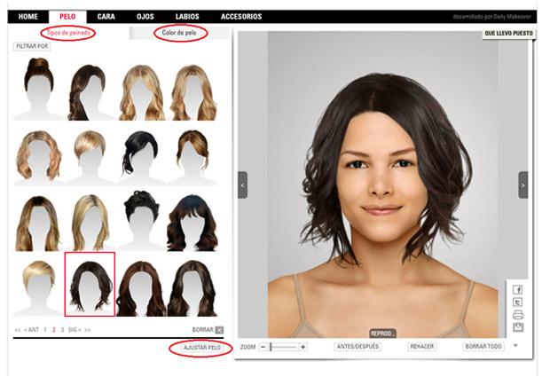 Crear corte de pelo virtual