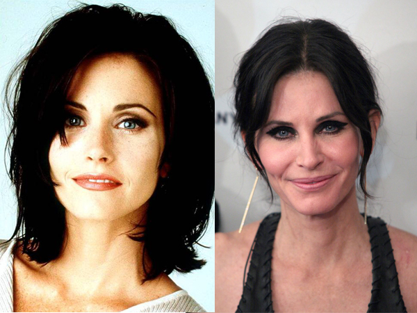 Courteney Cox antes y después