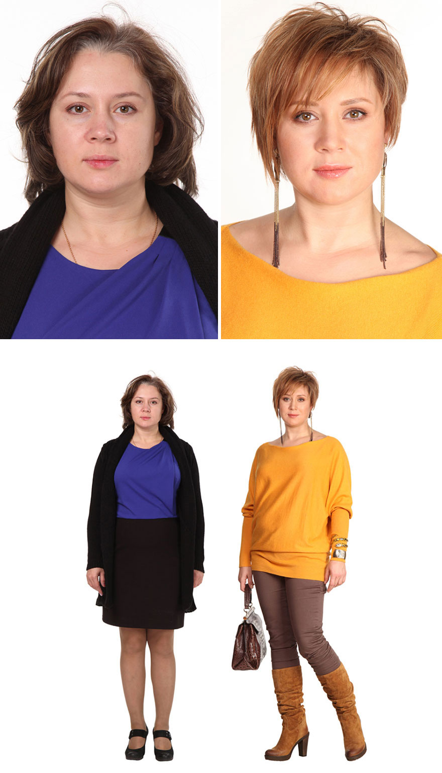 Mujeres normales consiguen look de modelos impactantes for Extensiones antes y despues
