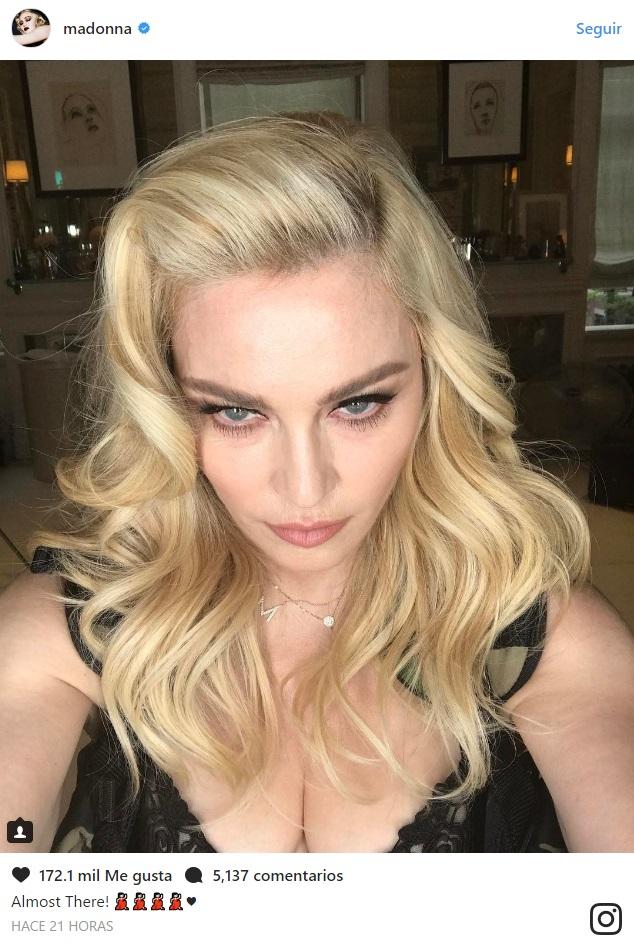 619012549 Madonna publica selfie sin maquillaje: así luce al natural a sus 58 ...