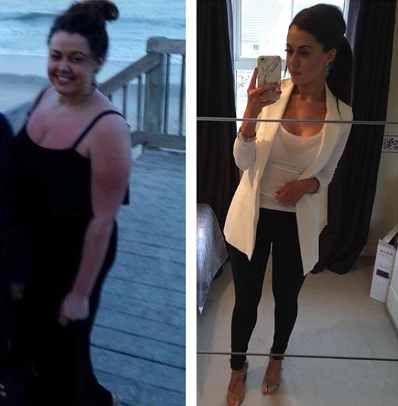 mujer bajo de peso antes y despues 3
