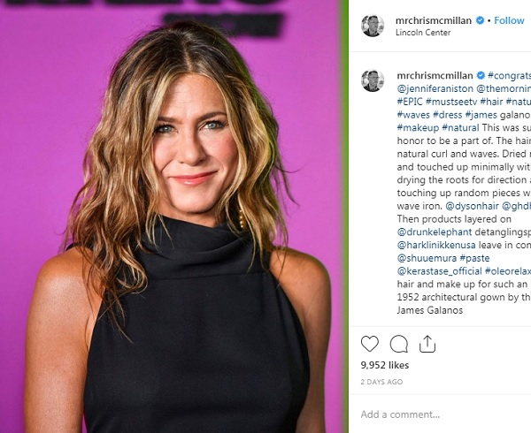 jennifer aniston cabello natural