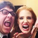 Las mejores fotos de los famosos en el backstage de los Golden Globes