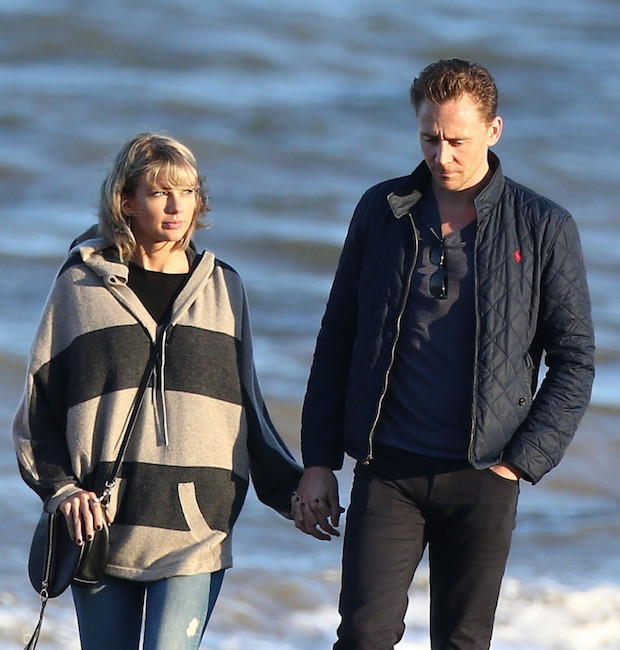 FAMEFLYNET - Exclusive: Taylor Swift And Tom Hiddleston Go For A Romantic Beach Walk In The UK
