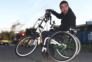 silla de ruedas bicicleta