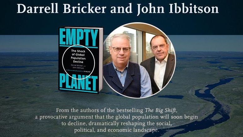 "Foto: Darrel Bricker y John Ibbitson, autores del libro ""Empty Planet"". /canadiangeographic.ca"