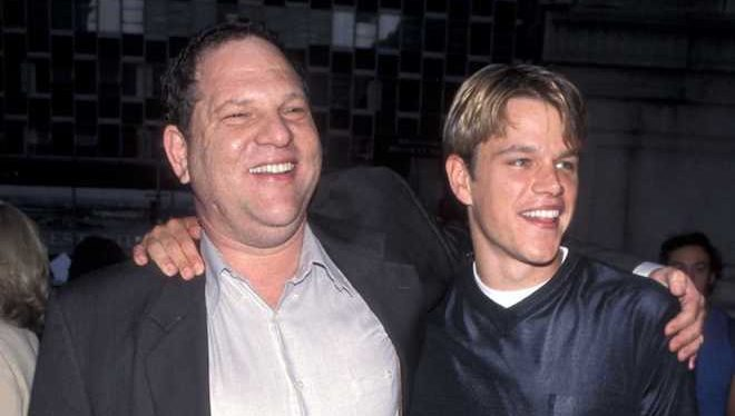 Harvey Weinstein junto a Matt Damon / Cinemania