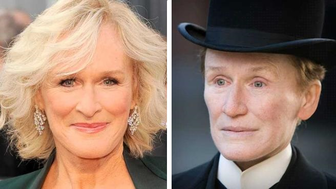 actores detras del maquillaje glenn close