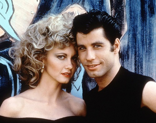 parejas del cine grease olivia newton john travolta