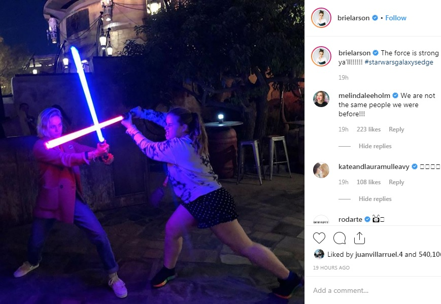 brie larson star wars sable laser