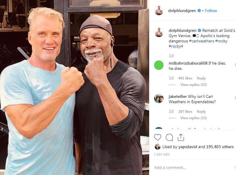 ivan drago apollo creed reencuentro