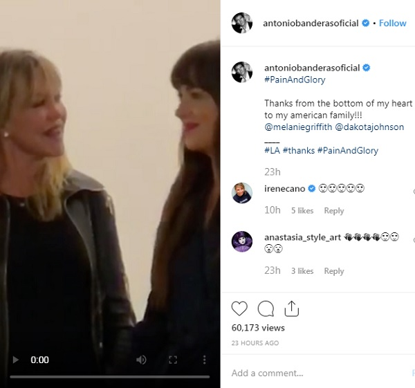 antonio banderas melanie griffith dakota johnson