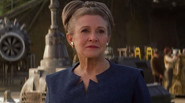 princesa leia carrie fisher star wars el ascenso de skywalker