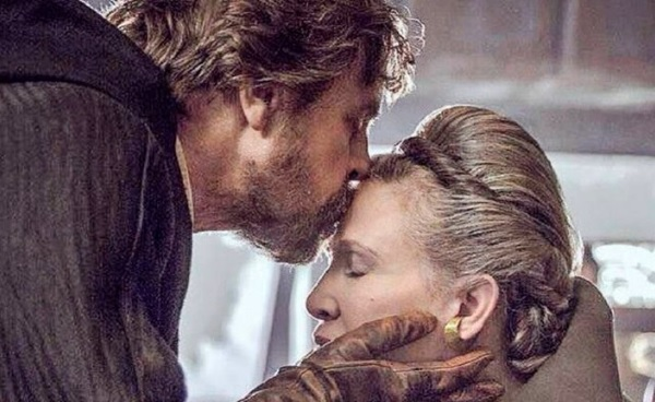 mark hamill carrie fisher beso los ultimos jedi