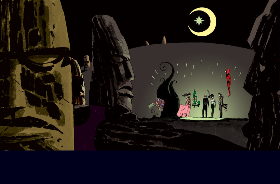 Justice League Dark #37, arte de Darwyn Cooke