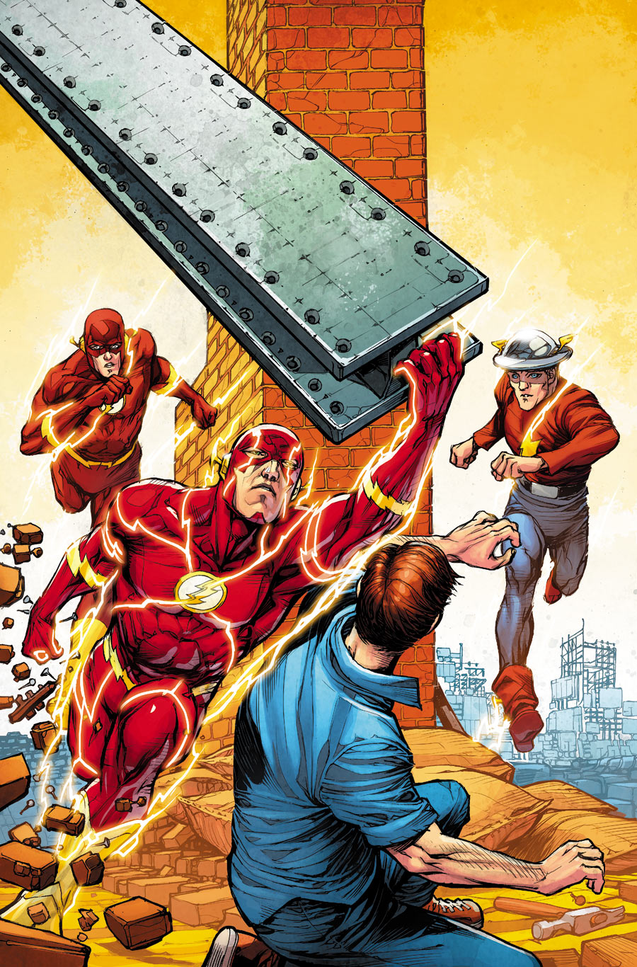 The Flash v4 #38 (2014). Arte de Howard Porter