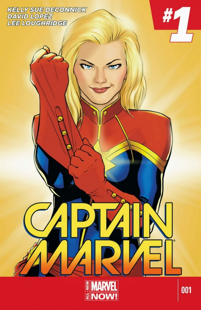 Captain Marvel #1 (2014). Arte de David López