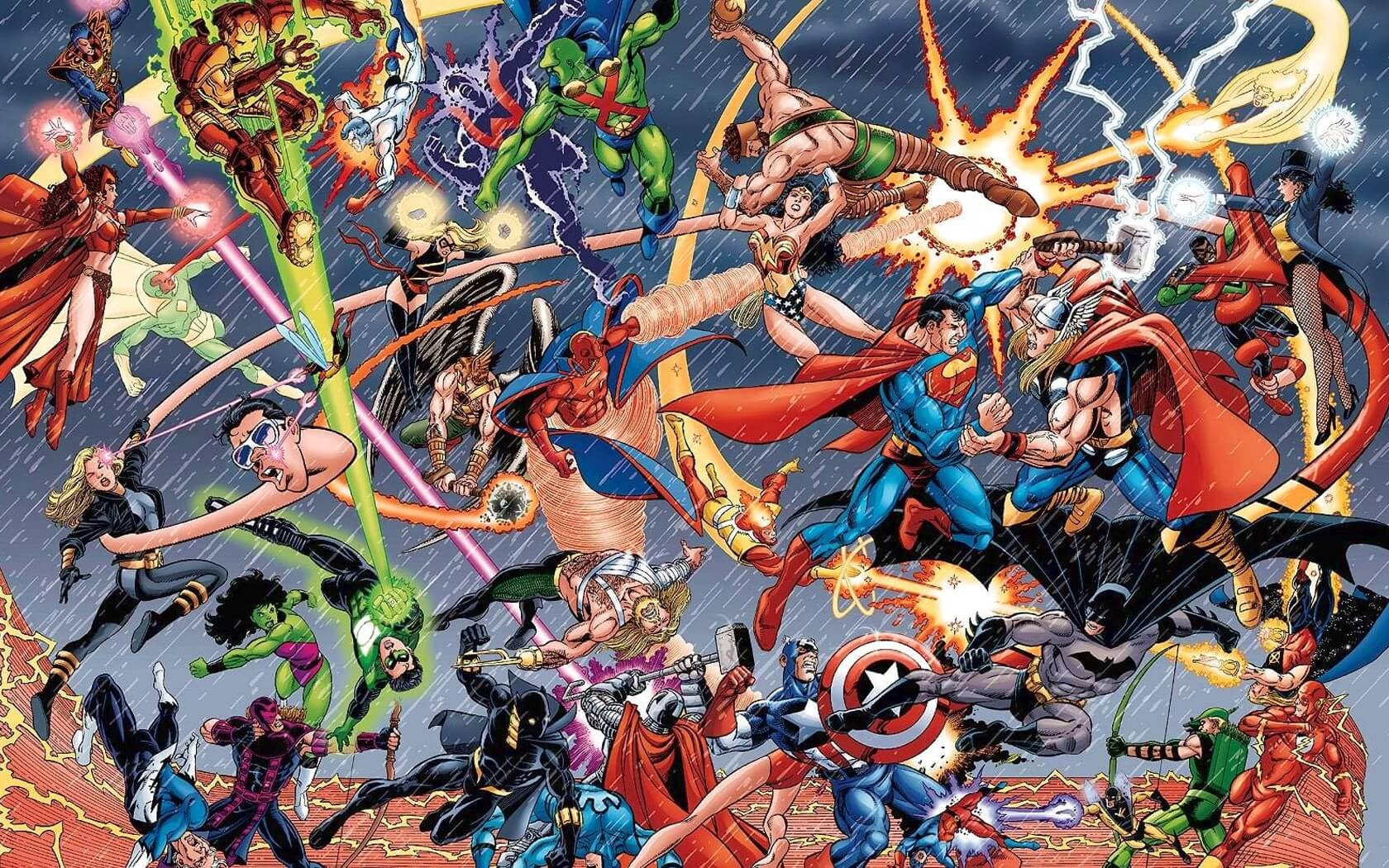 Marvel-vs-DC-Wallpaper
