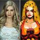Bella cosplay pinta sobre su cuerpo desnudo los mejores trajes de superhéroes