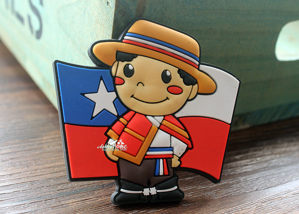 Chile-Flag-Little-Boy-Tourist-Travel-Souvenir-Rubber-Decorative-Fridge-font-b-Magnet-b-font-font