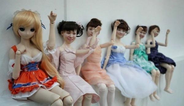 Muñecas Japonesas con rostro Humano