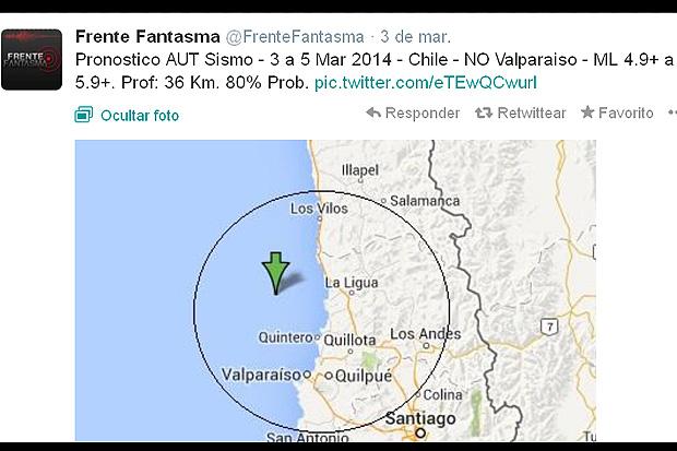Frente Fantasma Temblores Chile