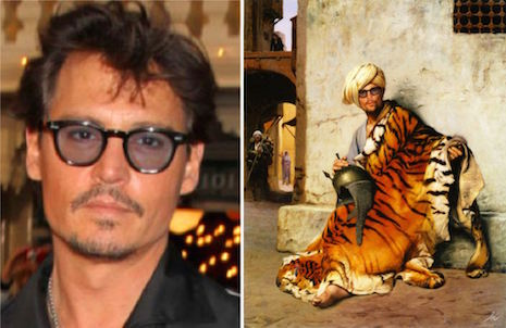 Johnny Depp en Pelt Merchant of Cairo