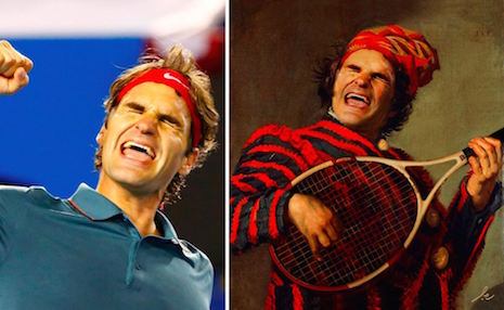 Roger Federer en The Lute Player